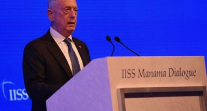 Remarks by James Mattis at International Institute for Strategic Studies Manama Dialogue, by James Mattis