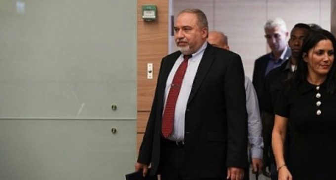 Avigdor Lieberman, Israeli Minister of Defence, resigns