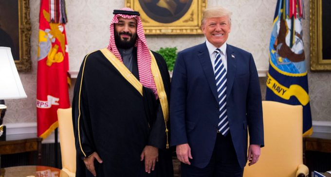 "Trump Doesn't ""Condone"" Saudi State-Sponsored Murder, He Hugs It"