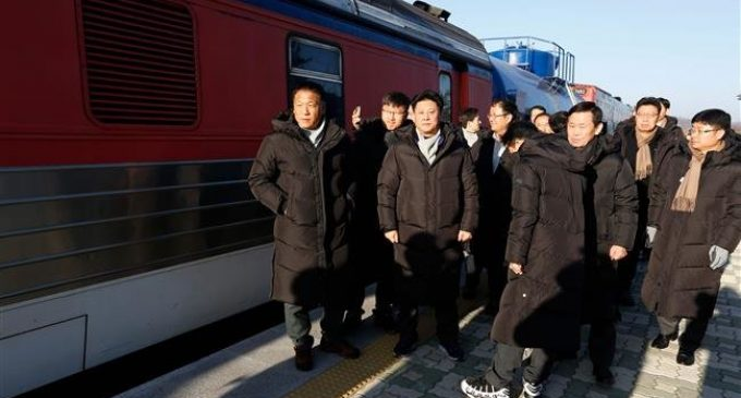 South Korea train enters North for first time in a decade