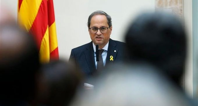 Catalan president joins fasting in solidarity with prisoners