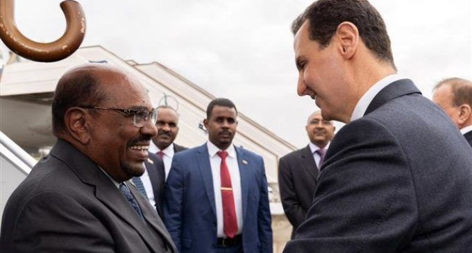 Sudan's Bashir first Arab leader to visit Damascus in 8 years