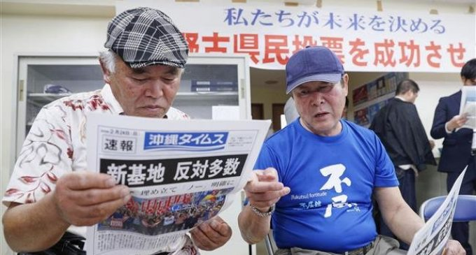 Most Okinawans vote against US base plan: Exit polls