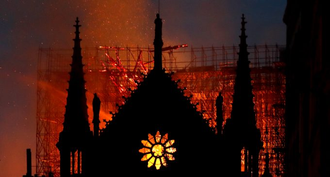 A Cathedral and a Mosque Engulfed in Fire; One Ravages the Past, the Other Threatens the Future