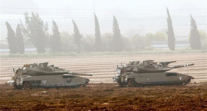 Israeli tanks, aircraft target Hamas positions in Gaza Strip