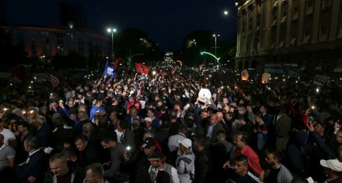 Albanian opposition holds new protest against government