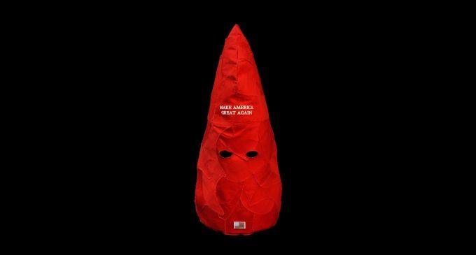 Facebook Bans Political Artist for Provocative MAGA-Hats-as-Klan-Hoods Sculpture