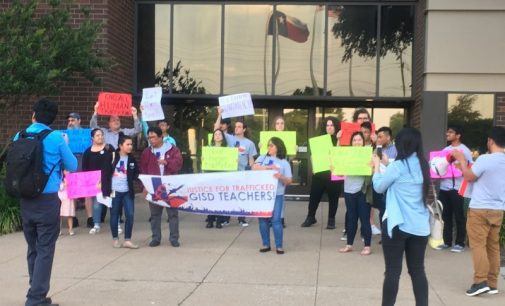 Garland, TX community confronts school board over trafficked teachers