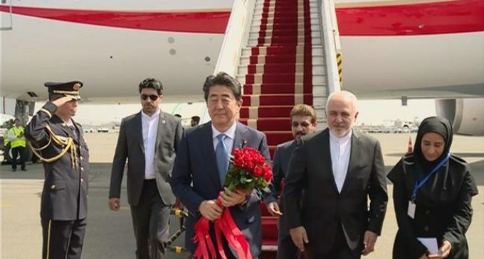 Japan's Prime Minister Abe due in Tehran on historic visit
