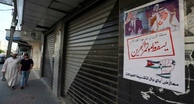 Palestinians launch general strike in Gaza Strip in protest at US-led Bahrain conference