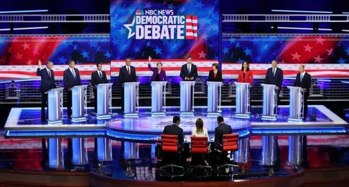 Democrats clash in contentious first US presidential debate