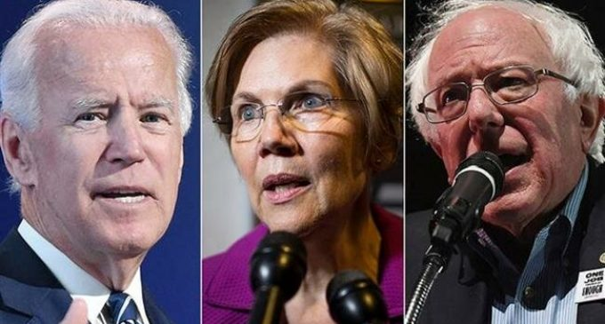 Poll gives Biden, Sanders and Warren lead over Trump