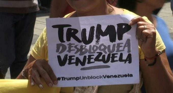 Pro-government supporters in Venezuela rally against US blockade