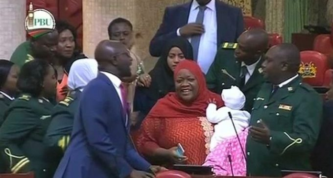 Kenyan MP kicked out of parliament for bringing her baby
