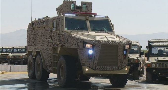 Iran unveils two military vehicles