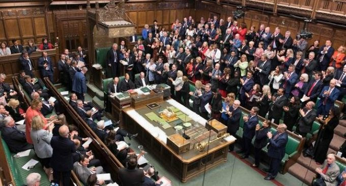 MPs protest as UK Parliament prorogued for 5 weeks
