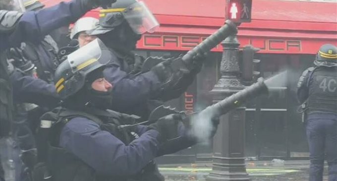 French cops strike over pensions and police brutality