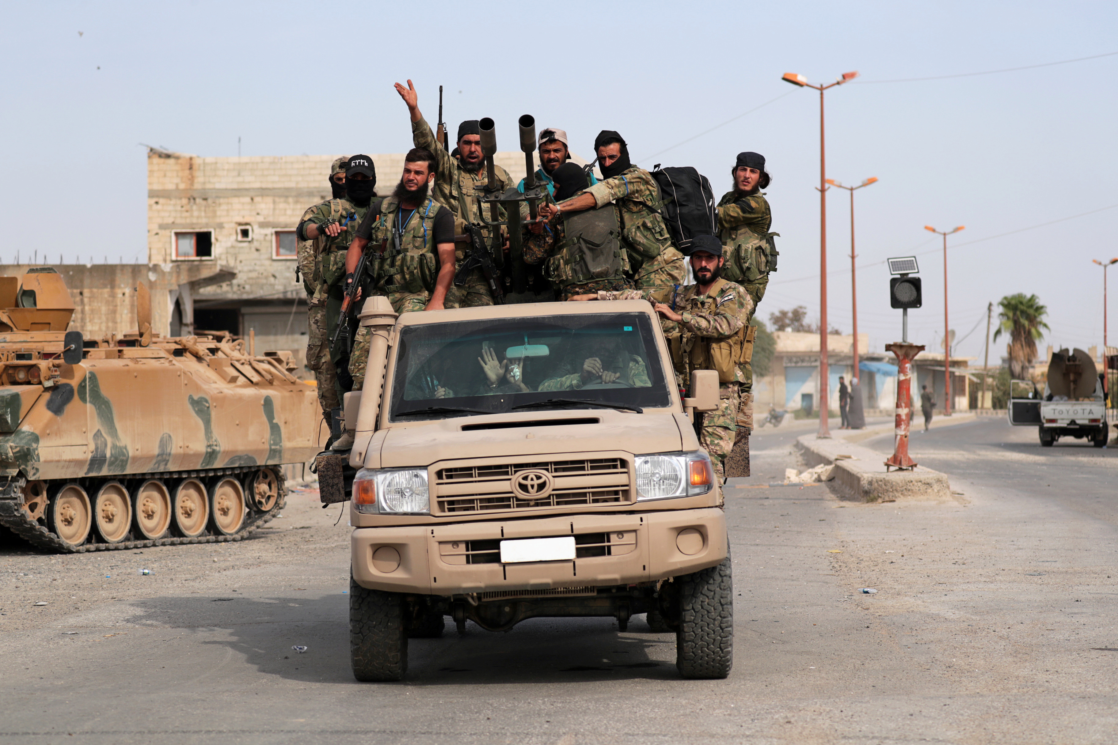 Syrian and Turkish armies scurry to occupy the ground