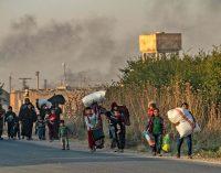 Christians fleeing northeastern Syria