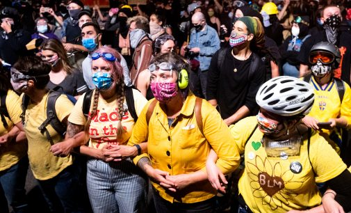 """Portland: """"Wall of Moms"""" Mobilizes to Protect Protests From Police Violence"""