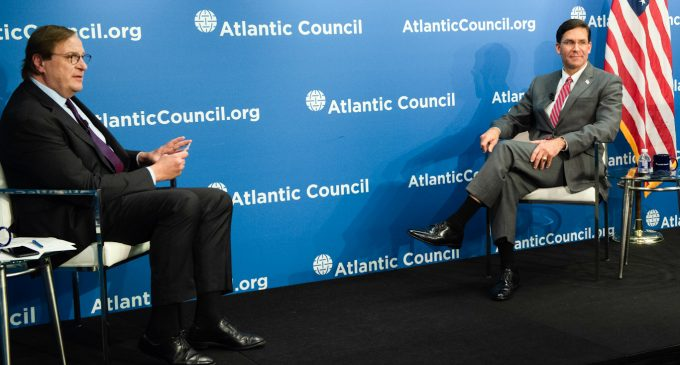 Defense Sectary Visits Hawkish Atlantic Council to Announce US Troop Buildup on Russia Border