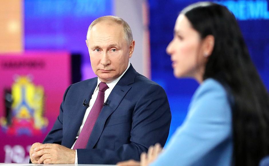 Direct Line 2021 with Vladimir Putin, by Vladimir Putin